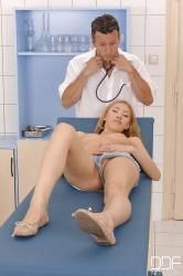 Young hot blonde Camila gets the full anal exam
