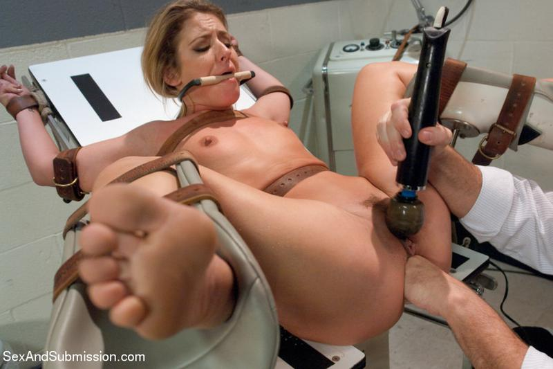 Doctor fucking in the ass bondage patient