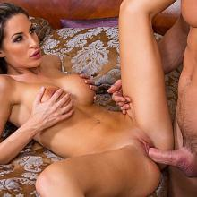 Kortney Kane rides a Dick deep inside her on a Bed