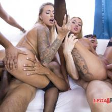 Katrin Tequila and Juelz Ventura in Double Anal gangbang orgy