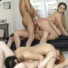 Brianna Bounce in Orgy with Penelope Cum and Anny Aurora
