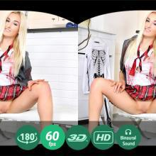 Daisy Lee in schoolgirl uniform masturbates on camera