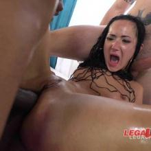 Angie Moon anal destruction with DP, DAP and triple penetration