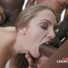 Interracial scene with Dominica Phoenix