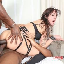 Interracial scene with Lyna Cypher