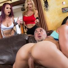 Alexis Fawx, Monique Alexander and Rachel Starr fun with a cock