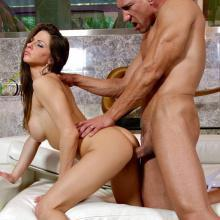 Rachel Roxxx bent over and slammed deep Doggystyle