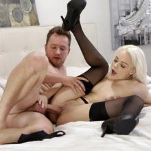 Elsa Jean enjoys taking Cock in her tight Pussy