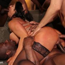 Raven Hart gets Bound, Fucked and Wrecked in Ruthless Gangbang