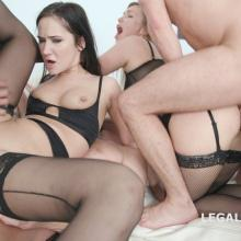 DOUBLE ANAL orgy with Angie Moon vs Selvaggia