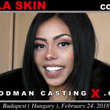 Canela Skin first porn audition by Pierre Woodman