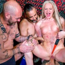 Angela Vidal getting spanked, teased with mini taser and hot wax tortured