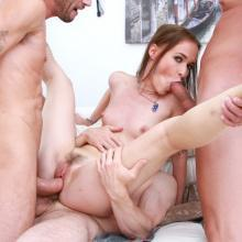 Sasha Sparrow assfucked and Double penetrated