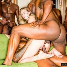 Haley Reeds feeds her Holes double the big black Dicks