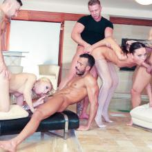 Group scene with Nataly Gold