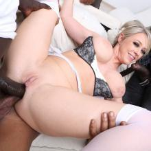 Interracial scene with Dee Williams