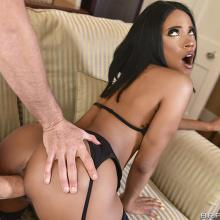 Kiki Minaj bends over and gets fucked from behind