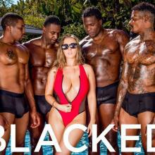 LENA PAUL gets gangbanged by SEVEN black COCKS
