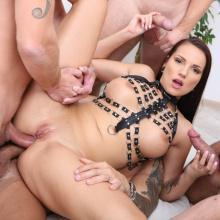 Total DOUBLE ANAL Destruction for German porn star Jolee Love
