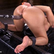 Bodacious babe Richelle Ryan is Bound and Fucked with Machines