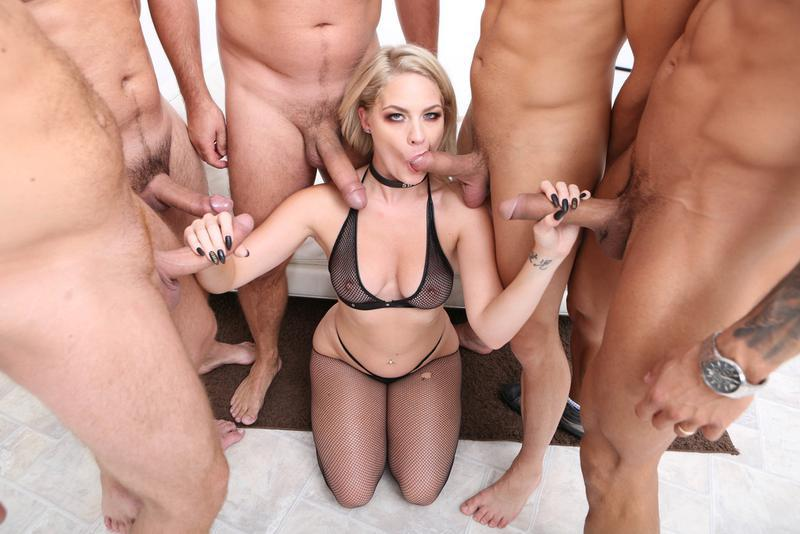 Wild anal sex with big tits round ass blonde babe