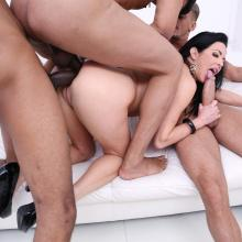 Veronica Avluv's piss drinking fantasy with DOUBLE ANAL