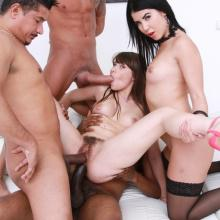 Luna Rival dominated by Lady Dee, assfucked and pissed all over
