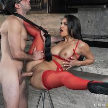 Amazing brunette babe Katana Kombat is having a hot Fuck