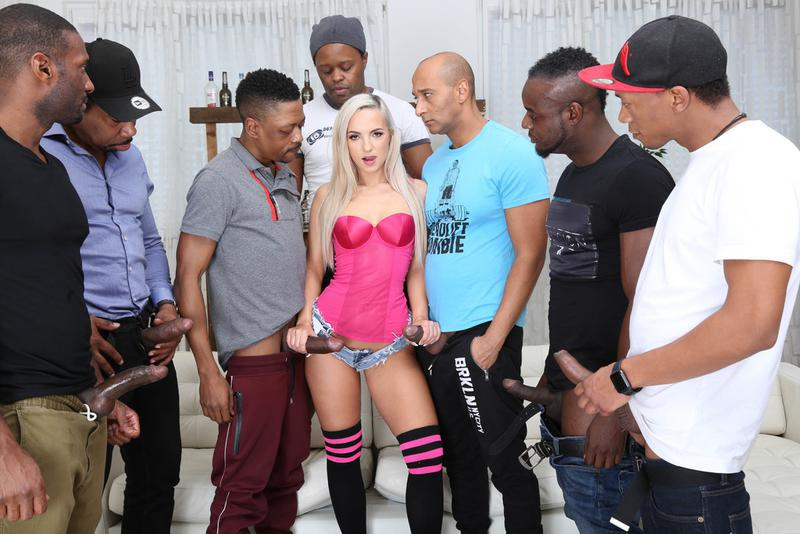 DOUBLE ANAL interracial Gangbang for Kristy Black | Legal Porno