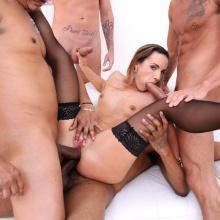 Kristy Black sucks and fucks many huge Cocks