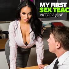 Victoria June teaching her horny Student how to fuck