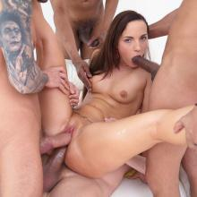 Kristy Black Double Anal penetrated with monster cock team