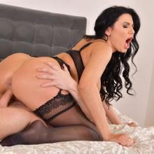 Stunning bombshell Ania Kinski gets screwed hard