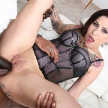 Natasha Ink has double Anal with two Black Cocks