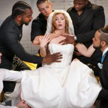 Lustful bride Ella Nova gets double penetrated before her Wedding Day