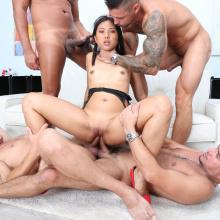 May Thai gets manhandled and Double Anal penetrated
