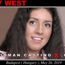 Katty West first porn audition by Pierre Woodman