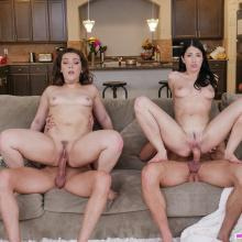 Alex Coal & Kimber Woods in a fiery Foursome