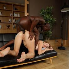 Paulina Soul swallows black Cock before Anal fuck