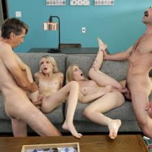 Emma Starletto & Kate Bloom fucked in a foursome