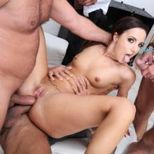 Incredible Kristy Black's ass tests her limits with 2 DOUBLE ANAL session