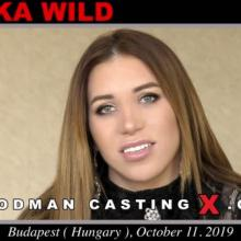 Monika Wild first porn audition by Pierre Woodman