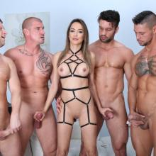 Francys Belle gets deep Double Anal & Pee Drink