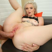 Kay Carter - Evil Angel - First Anal Scene, Gaping asshole