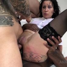 Natasha Ink Piss drinking with Double Anal