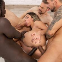 Martina Smeraldi is back with 3on1 anal fucking deep and hard