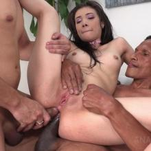 Emily Pink hot Double Anal threesome