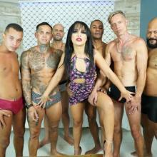 Brazilian Gangbang, Carolina Carioca 5on1 Balls Deep Anal, DP, DAP and Swallow GL400