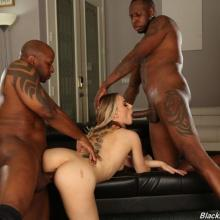 Anna Claire Clouds Interracial threesome - Blacks On Blondes