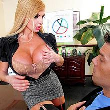 Business lady Taylor Wane gets pounding her sweet wet pussy at work